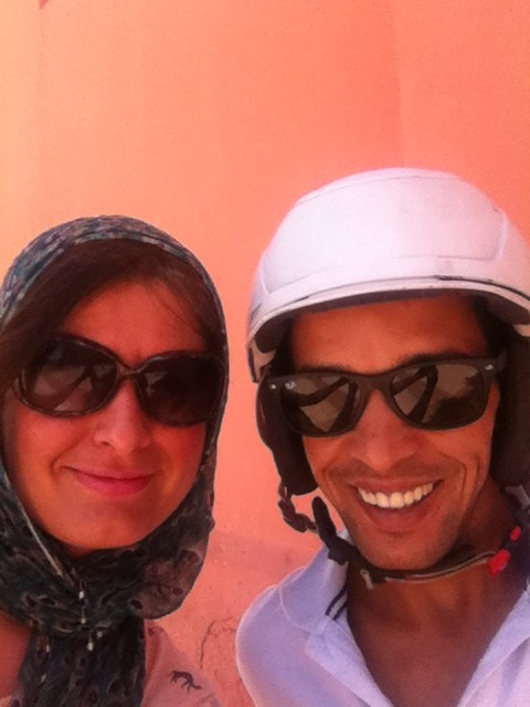 Getting a Local Guide is a great idea - meet my friend Hassan who took me around Marrakesh on his moped!