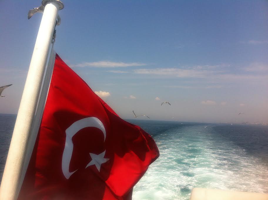 Turkish Flag on Boat to Princes Islands