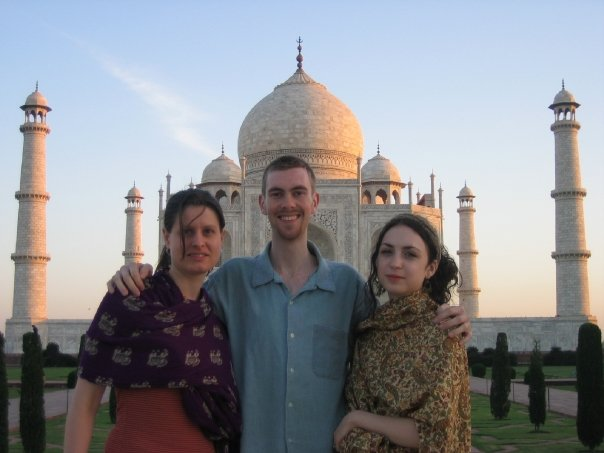 Me, Dan and Ruth at the Taj Mahal, Agra, India (2008).