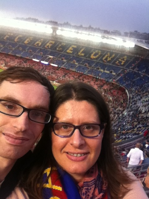 Amy and Sy Camp Nou
