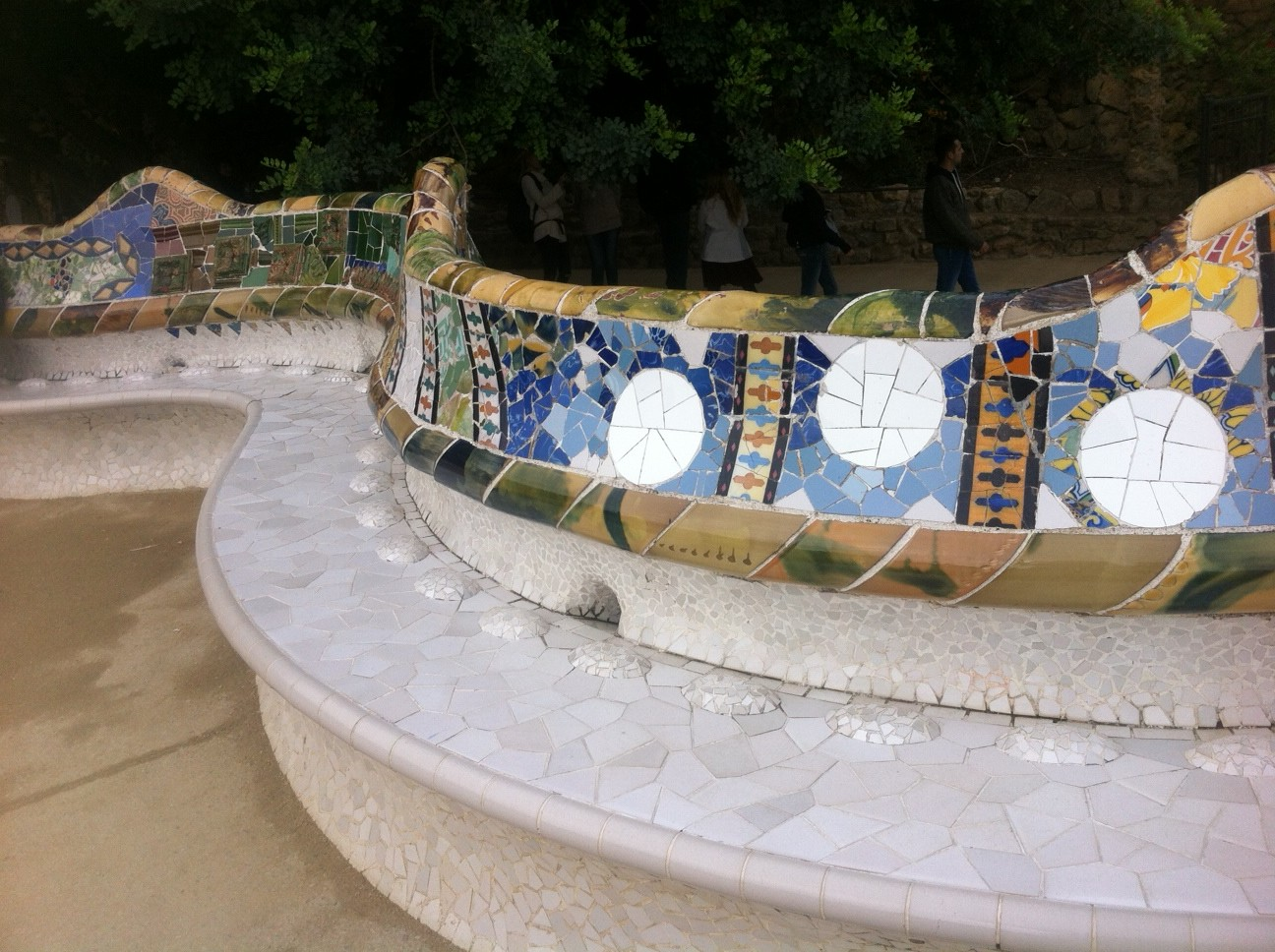 Mosaic seating Park Guell