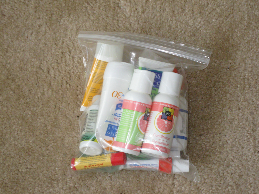 Toiletries for Airport security