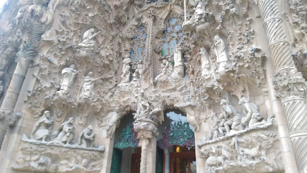 Entrance to La Sagrada Familia by Gaudi