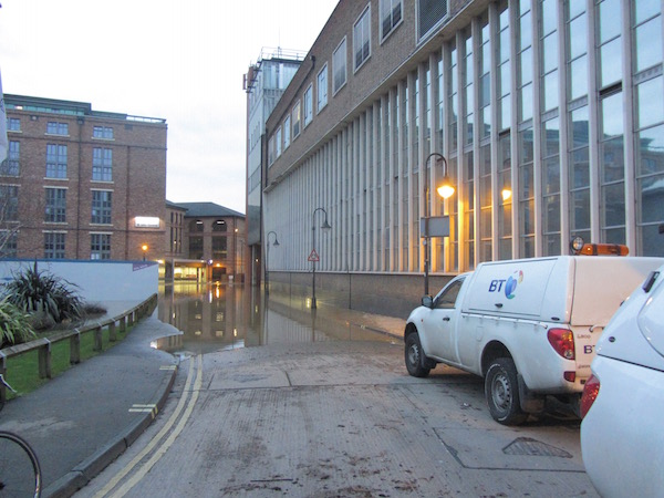 York Floods off Stonebow