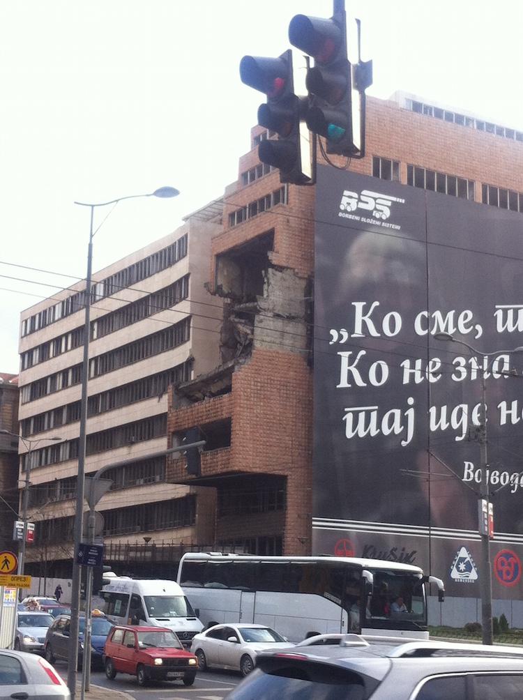 Bombed Building Belgrade