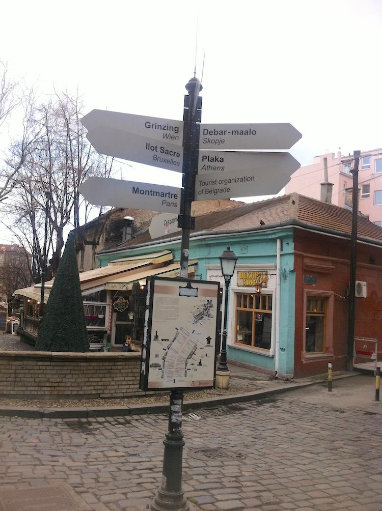 Skadarlija Signpost