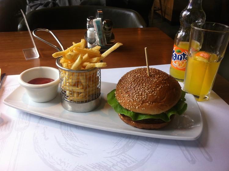 My appropriately named 'gypsy burger' at Gondola, Novi Sad.