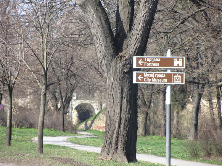 Petroveradin Fortress Signpost