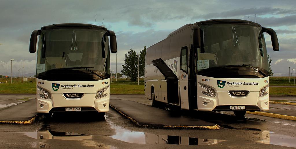 Arriving in Reykjavik Iceland Flybus