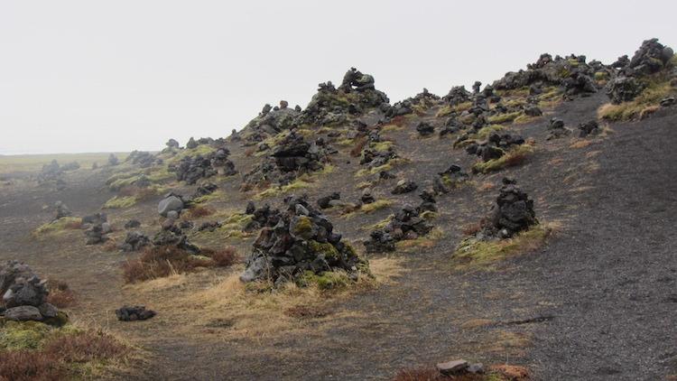 Stone mounds South Coast of Iceland