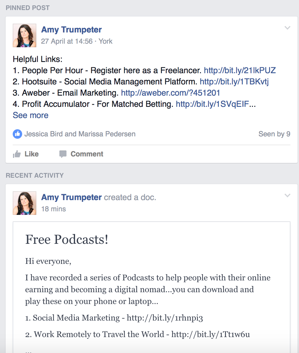 Online Money Making Facebook Support Group