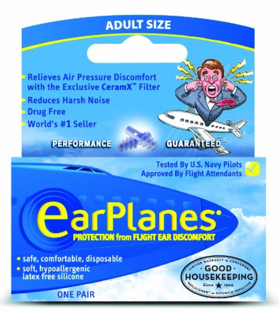 Ear Planes for flying with a cold