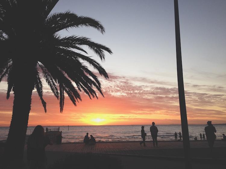 St Kilda Sunset Melbourne