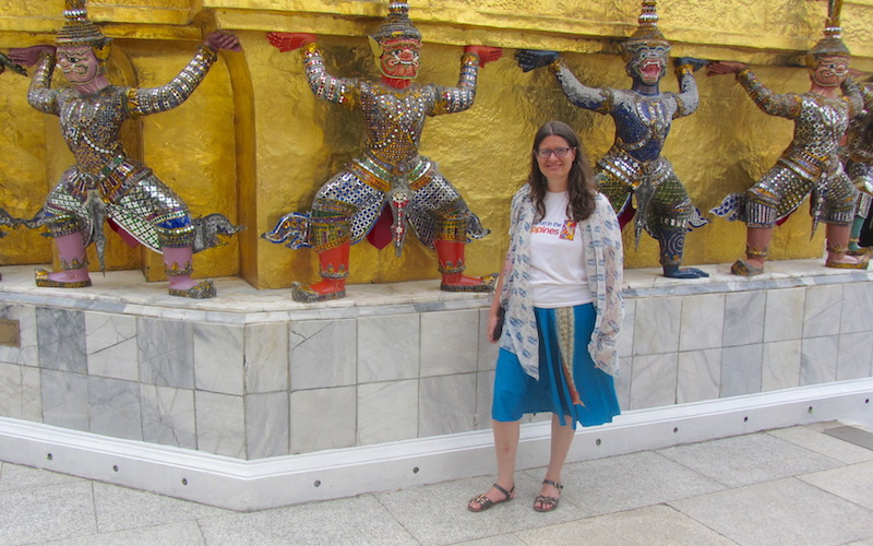 Amy travel blogger Yakshas Grand Palace Bangkok