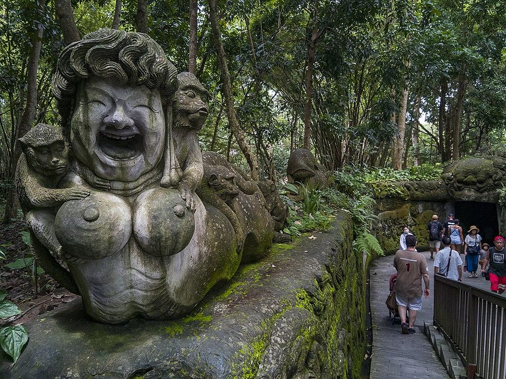 Monkey Forest Statue Ubud
