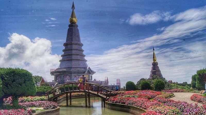 Twin pagodas Doi Inthanon